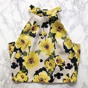 JOA high neck floral top